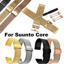 Milanese Stainless Quick Release Watch Band Strap+ Adapters For Suunto Core
