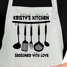 Personalized Kitchen seasoned with Love Apron.  Custom Seasoned with love apron