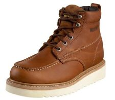 """NEW MEN WOLVERINE WORK WEDGE 6"""" BROWN BOOTS MOC-TOE W08288 AUTHENTIC LEATHER"""