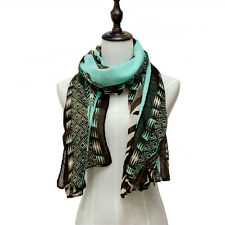 Geometric totem ethnic style Long autumn scarf for womens shawl cotton warp