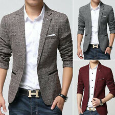 Stylish Mens Men Casual Slim Fit One Button Suit Blazer Coat Jacket Top Formal
