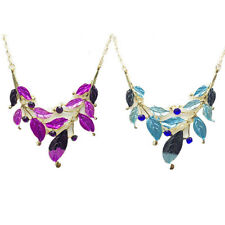 Diamond-encrusted Faux Jewelry Necklace Earring Women Leaf Hot New Set Fashion
