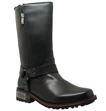 NEW Mens AdTec Ride Tecs Double Zipper Leather Boots Black Motorcycle Work 1501