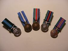 Large Selection Miniature Court Mounted Medals British Made