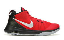 NIKE MENS AIR VERSATILE BASKETBALL RED BLACK SILVER SHOES **FREE POST AUSTRALIA