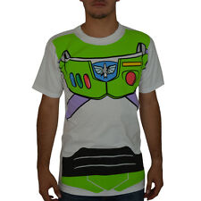 Buzz Lightyear Costume White Licensed T-shirt New Sizes S-2XL