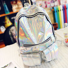 Fashion Waterproof Students Bright Leather School Backpack Travel Shoulger Bag