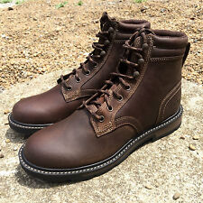 """ARIAT MEN'S GROUNDBREAKER 6"""" LEATHER BROWN LACE UP HIKING BOOTS 10016256"""