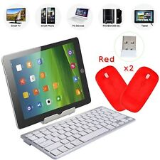 Silm Wireless Keyboard Bluetooth 3.0 Keypads For Windows Mac Ios Android+2 MOUSE