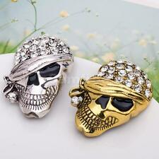 Fashion Personality Halloween Crystal Skull Clothing Accessories Brooch