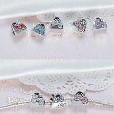 5pcs Crystal Hangbag with Bow Charms Bracelet Pendant Necklace Jewelry Findings