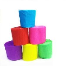 Crepe Paper Rolls 190ft -Streamer Party Decoration Bunting 60 metres -6 colours