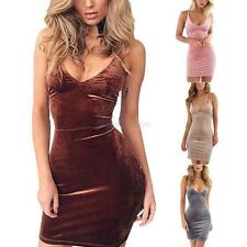 Sexy Bandage Bodycon Retro Women Deep-V Neck Mini Dress Cocktail Party Clubwear