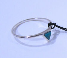 Barse Triangle Turquoise & Sterling Silver Accent Ring Size 8 - NEW