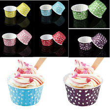 20 Pcs Mini Paper Cake Cup Liners Baking Cupcake Cases Muffin Cake Colorful SG