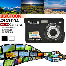 "2.7"" TFT LCD Screen 18MP CMOS HD 720P Digital Camera Video Camcorder US Stock"