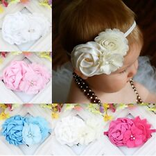 Lovely Newborn Toddler Baby Girl Kids Cloth Headband Christening Flower Headband