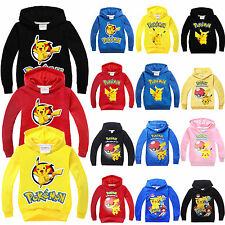 Pokemon Go Pokeball Kids Girls Boys Sweatshirt Hoodies Jacket Coat  Pikachu Tops