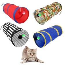Pet Cat Kitten Pop Up Play Tunnel with Suspended Balls Hiding Rolling Fun Tube