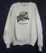 PLANET HOLLYWOOD SAN FRANCISCO WHITE EMBROIDERED SWEATSHIRT SIZE XL VINTAGE