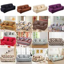 3-Seater Sofa Couch Slip Over Easy Fit Cover Elastic Settee Protector 42 Styles