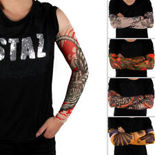 Fashionable 4in1 Cool Fake UV Tattoo Sleeves Body Arm Stockings