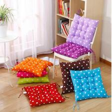 Soft Outdoor Dining Garden Patio Chair Seat Pad Dots Tie On Cushion 8 Colors