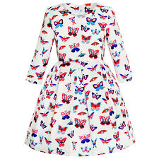 Sunny Fashion Girls Dress Butterfly Long Sleeve Winter Dress Age 4-14 Years