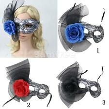 Venetian Masquerade Flower Lace Ball Prom Eye Mask Halloween Party 3 Colors