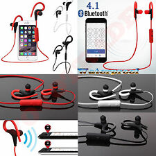 New Bluetooth4.1 Ear Hook Wireless Sports Stereo Waterproof Headset Earphone Lot