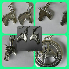 Horses, steeds, horse lovers, riders pony charms made into earrings