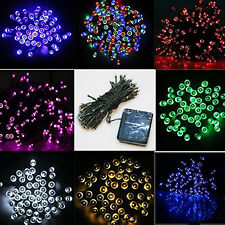 200/100 LED Solar Powered Fairy Lights String Party Xmas Wedding Garden HT