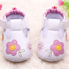 Vogue Kids Baby Girl Flower Synthetic Leather Shoes Soft Sole Toddler Crib Shoes
