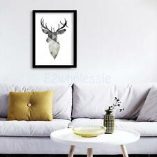 Modern Canvas Wall Hanging Art Painting Christmas Reindeer Poster Decoration