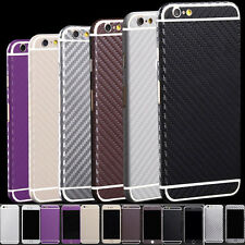 1x Carbon Fibre Body Skin cover case Protector Wrap Sticker Decal For iPhone hcu