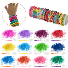 Loom Kit Rubber Bands with S-Clips DIY Tool for Bracelet Making Kids Gift