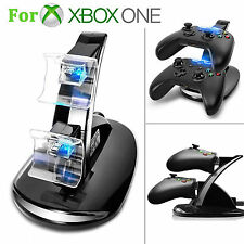 LED USB Xbox One Charger Fast Charging Stand Dock Station for Dual Controllers
