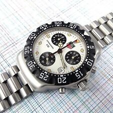 TAG Heuer Formula 1 Chronograph White Dial CA1212-RO, New Bezel and Battery