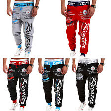 Mens Letter Printed Sport Sweat Pants Jogging Trousers Tracksuit Bottoms Cheaply