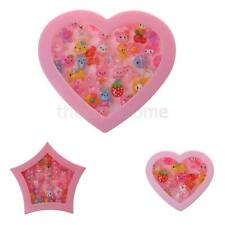 Kids Adjustable Pretty Rings Fitted in Lovely Pink Box Girls Cartoon Jewelry