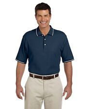 Devon & Jones Polo Shirt Golf Men's Pima Pique Short Sleeve Tipped D113 NEW