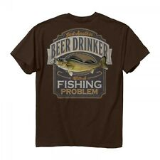 * New Buck Wear 2006 Walleye Beer Drinker with a Fishing Problem T Shirt Men's