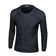 Stylish Mens Sweaters Casual Crew neck Slim Fit Knitwear Pullover Tops HOT