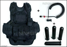 WOODSBALL SCENARIO TACTICAL PAINTBALL VEST w/4 PODS & REMOTE  1¢ Auction  1¢