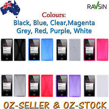 Apple Ipod Nano 8 7th Gen Case TPU X-Shaped Soft Gel Skin Cover +ScreenProtector