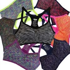 Seamless Women Sports Bra Yoga Fitness Running Padded Stretch Workout Top Tanks
