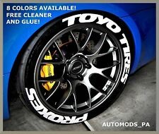 """8 COLORS! PERMANENT TIRE LETTERS - """"TOYO TIRES"""" """"PROXES"""" - 1"""" 1.25"""" 1.5"""" 1.75"""""""