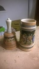 1984 QUEBEC CANADA POTTERY BELL CLIPPER SHIP + Free Stein with surface crack