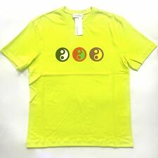 NWT Gosha Rubchinskiy Men's Neon Yellow Yin Yang Print T-Shirt 2017 DS AUTHENTIC
