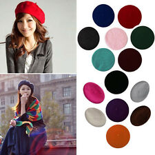 Winter Women Lady  Warm Wool Beret Artist Beanie Hat Ski Cap Solid Hat